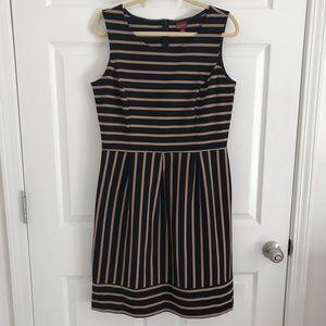 Merona tan and black stripe dress